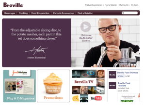 Breville-homepage